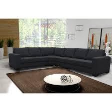 canapé d angle 6 places lili noir angle gauche achat vente