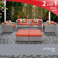 Modular Wicker Patio Furniture - 8 piece patio furniture wicker furniture grey