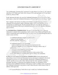 confidentiality agreement template free sample sample