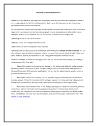 Resume Samples Senior Management by Aquatics Director Cover Letter