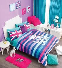 Turquoise And Purple Bedding New Girls Teens Aqua Turquoise Pink Purple Crown London Comforter