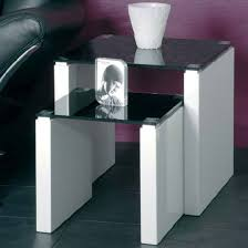glass coffee table nest larus nesting tables in black glass black glass tables and nest