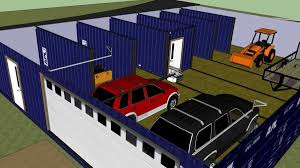 Shipping Container Homes Floor Plans Sketchup Shipping Container In Shipping Container Home Isbu