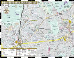 Nhl Map Streetwise Tokyo Map Laminated City Center Street Map Of Tokyo