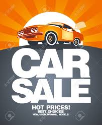 car for sale car sale design template with retro car royalty free cliparts