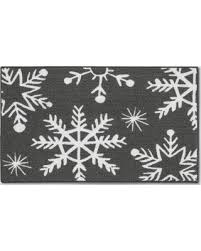 amazing deal on gray snowflake accent rug 1 66 u0027x2 83 u0027 threshold
