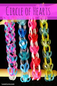 rainbow heart bracelet images How to make a rainbow loom circle of hearts bracelet jpg