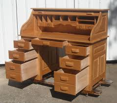 Oak Crest Manufacturing Roll Top Desk by Hand Made Hardwood Amish Barrister Bookcase By Tom Kies Woodworks