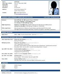 corporate resume format sle pilot resume format template corporate cover