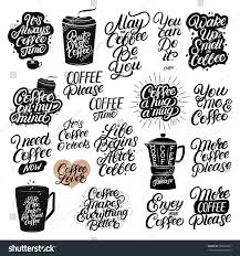 posters for home decor set 20 hand drawn lettering coffee stock vector 768875059
