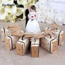 Suitcase Favors by Ourwarm 10pcs Europe Suitcase Box Wedding Favors Travel