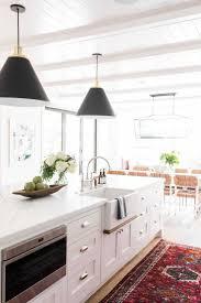 modern white kitchens 20 ways to black and white kitchen rugs