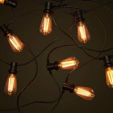 led edison string lights commercial festoon string lighting system outdoor festoon lights