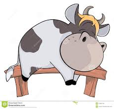 sleeping cow cartoon stock vector image 54623706
