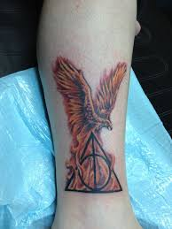 harry potter tattoos phoenix harry potter this was done by mike
