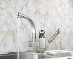 promotions wholesale 2 water spout spray kitchen sink brass faucet