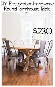 diy round farmhouse table do it yourself divas diy round restoration hardware table and gray