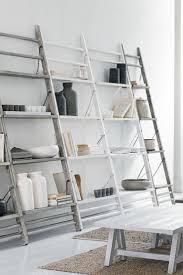 interior angled bookcase angled bookshelf leaning ladder shelves