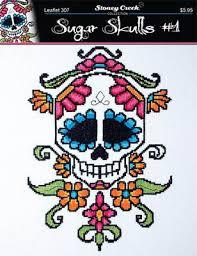 stoney creek sugar skull 1 cross stitch pattern 123stitch com
