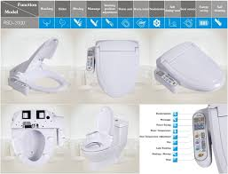 Heated Toilet Seat Bidet Abs Automatic Warm Toilet Seat Cover Intelligent Electronic Heated