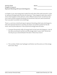 activity sheet name chapter 4 lesson 6