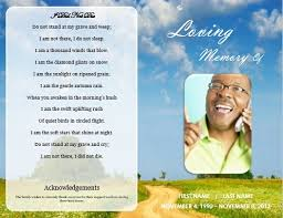 memorial service flyer template 73 best printable funeral program