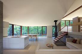 open kitchen and dining space home japan id709 hilltop home
