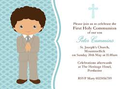 communion invitation personalised communion invitations boy new design 3