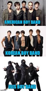 Boy Band Meme - boy bands they re are so hot right now imgflip