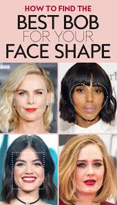 face shape hairstyle the best bob haircut for your face shape instyle com