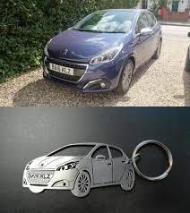 peugeot 208 models peugeot 208 keychain car keychain personalized keyring custom