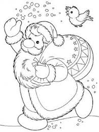 santa delivers toys christmas coloring pages coloring