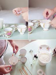 tea cup candles diy we vintage teacup candles bridalguide
