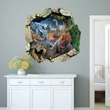 online get cheap amazing wall murals aliexpress com alibaba group latest amazing 3d dinosaur wall stickers home decor for guys room adventure wallpaper decal removable mural