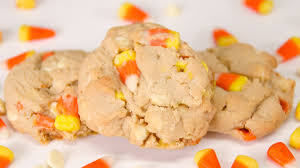 white chocolate candy corn cookies from cookies cupcakes and