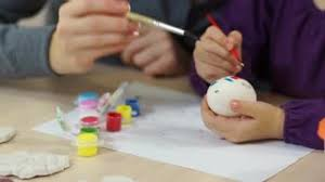 Decorating Easter Eggs Video by Children Decorating Easter Eggs Stock Video Footage Videoblocks