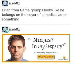Game Grumps Memes - icebox brian from game grumps looks like he belongs on the cover of