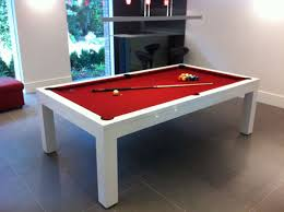 Pool Table Meeting Table White High Gloss Billiards Montfort Lewis Pool Dining Table Home