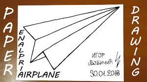 how to draw a paper airplane easy for kids origami airplane on