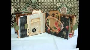 Vintage Scrapbook Album Mini Vintage Themed Envelope Scrapbook Album Youtube