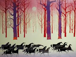 eyvind earle christmas cards saper galleries is your source for eyvind earle serigraphs and