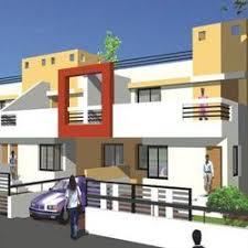 Row Houses Elevation - 3d model for row house 3d models buildings in ramachandra nagar