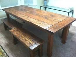 farm tables with benches farm table with bench and chairs foter