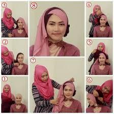 tutorial jilbab segi 4 untuk kebaya hijab untuk kebaya 3