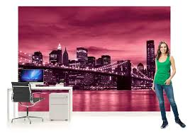 wall mural photo wallpaper picture 230pp new york brooklyn comes supplied in wallpaper strips that join together to form a giant image on your wall and create a stunning feature