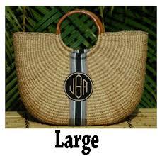 monogrammed baskets monogrammed half moon woven basket bag