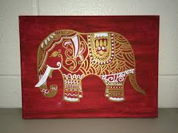 decor bohemian elephant canvas artwork and interior paint ideas