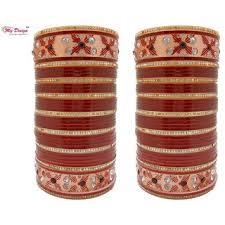 punjabi wedding chura my design bridal chura maroon wedding punjabi chuda bangles buy