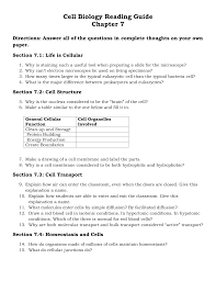 cell biology reading guide