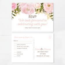 Cheap Wedding Invitations And Rsvp Cards Creative Union U2014 Pink Floral Printed Wedding Invitation Set